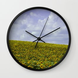 Field of Happiness - Sunflowers  Wall Clock