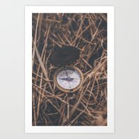 compass Art Prints featuring Compass by Luke Gram