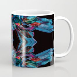 Electric Blue Petals Coffee Mug