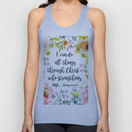 I can do all things Unisex Tank Top