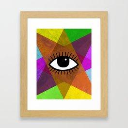 The all-seeing eye Framed Art Print