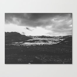 Ice giant - black and white landscape photography Canvas Print