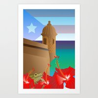 puerto rico Art Prints featuring Puerto Rico by PADMA DESIGNS PR