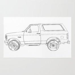 Bronco drawing Rug