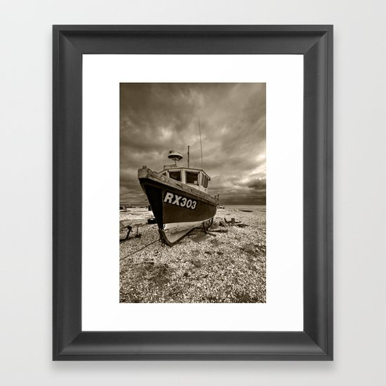 Dark Dungeness Framed Art Print