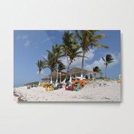 Beach Time, Anegada, BVI  Metal Print