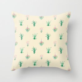 Watercolor Tilandsia Airplant Throw Pillow
