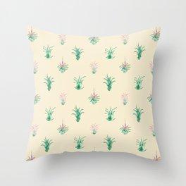 Watercolor Tilandsia Airplant Throw Pillow
