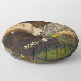 OPHELIA - JOHN EVERETT MILLAIS Floor Pillow