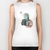 vintage camera Biker Tanks featuring Camera by dmirilen
