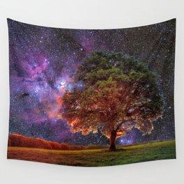 Galaxy Garden Wall Tapestry