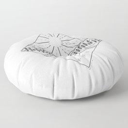Day Sun and Night Moon Monoline Floor Pillow