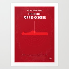 No198 My The Hunt for Red October Art Print