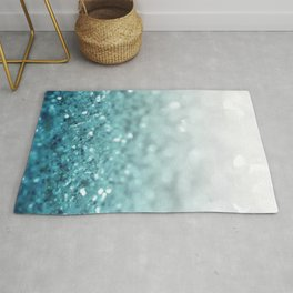 MERMAID GLITTER - MERMAIDIANS AQUA Rug