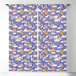 Spring Showers with Ducks Blackout Curtain