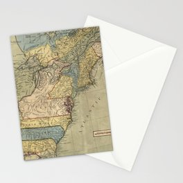 Vintage Discovery Map of The Americas (1771) Stationery Cards