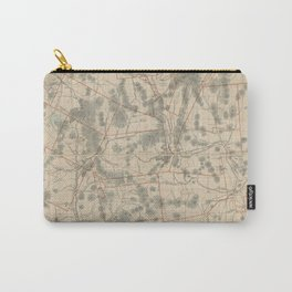 Vintage Map of The White Mountains (1896) Carry-All Pouch
