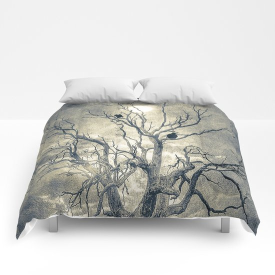 Raven's shelter II  (colour option) Comforters