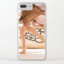 dancing woman Clear iPhone Case