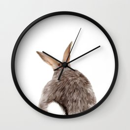 Bunny back side Wall Clock