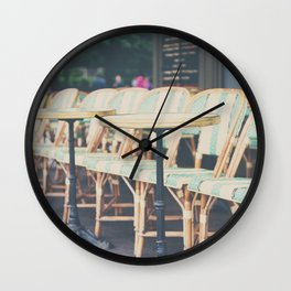 tables & chairs ... Wall Clock