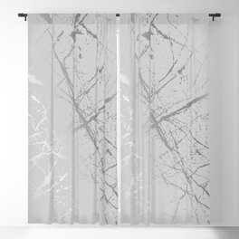Silver Splatter 089 Blackout Curtain
