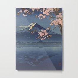 Lake Kawaguchi by Tsuchiya Koitsu Vintage Art Japanese Woodblock Print East Asian Art Fine Art Cultural Art Metal Print