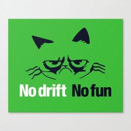 No drift No fun v7 HQvector Canvas Print