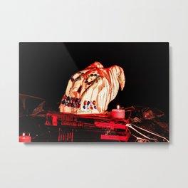 Addams Family Skull Wax Metal Print