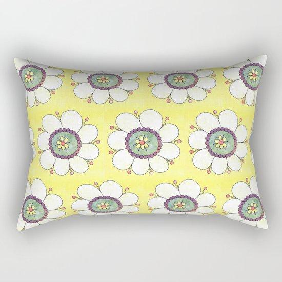 Crazy Daisies Rectangular Pillow