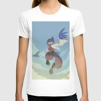 starfox T-shirts featuring Falco Lombardi  by Taylor Barron