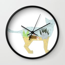 Succulent Terrarium Cat Wall Clock