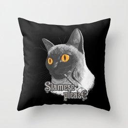 Siamese Please Throw Pillow