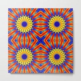 Arizona Floral Mandala Pattern Metal Print