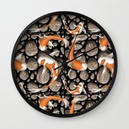 Koi Fish Pattern Wall Clock