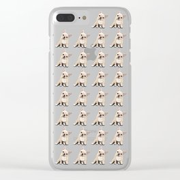 Frenchie pattern Clear iPhone Case