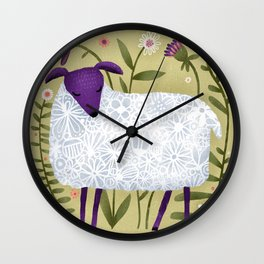WOOLY POSE Wall Clock