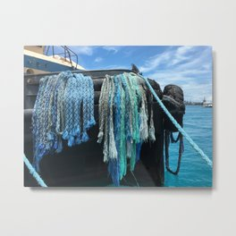 Bow Braids Metal Print