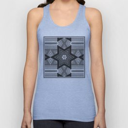 Black and white abstract pattern. Graphics. Unisex Tank Top