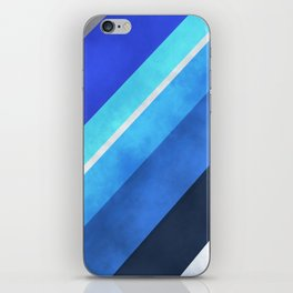 Parallel Blues iPhone Skin