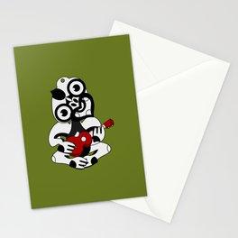 Black and Grey Hei Tiki playing a Ukulele Stationery Cards