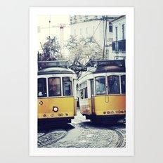 Yellow Lisbon Art Print