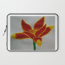 Handmade drawing of flower Laptop Sleeve