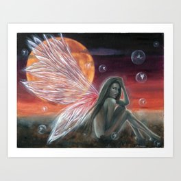 Fairy Bubbles Art Print