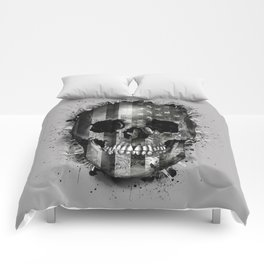 usa black and white skull Comforters