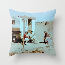 Dustbowl Camping Throw Pillow