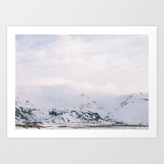 Iceland | landscape - photography - print - travel - mountains - color - photo Art Print