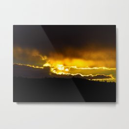 The Storm is Gathering Metal Print