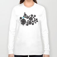 robot Long Sleeve T-shirts featuring robot by alex eben meyer