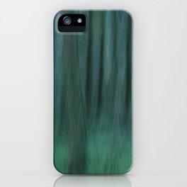 Painted Trees 2 Aqua iPhone Case